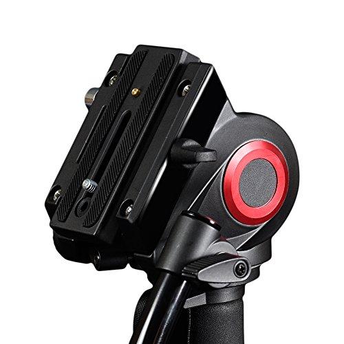 miliboo MTT705A Aluminum Portable Fluid Head Camera Monopod for Camcorder/DSLR Stand Professional Video Tripod 72
