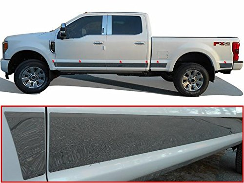 QAA FITS F-250 & F-350 Super Duty 2017-2019 Ford (12 Pc: SS Rocker Panel Body Trim, 4.5