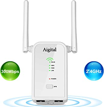 WiFi Range Extender,300Mbps High Speed with Repeater//Access Point//Router Mode