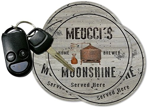 MEUCCI'S Home Brewed Moonshine Coasters - Set of 4