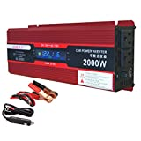 SAILFLO 2000W Car Truck Vehicle Inverter DC 12V to AC 110V/120V 2KW Power Inverter Charger Convert For Ourdoor Camping Use
