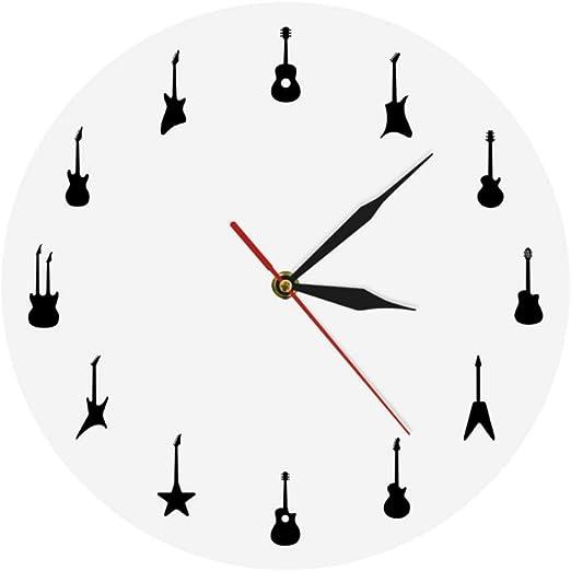 Hyllbb Guitarra Reloj De Pared Diferentes Tipos De Guitarras ...