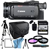 Canon VIXIA HF G40 HFG40 with Tripod, Filter kit including UV FIlter, 32GB SD Class 10 Memory Card, Camera Case, USB Card Reader & More