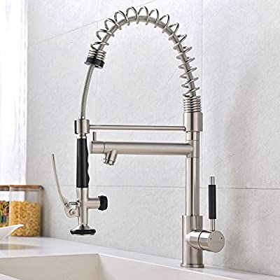 VCCUCINE Modern Pull-Out Kitchen Faucets with Pull Down Sprayer,No Deck Plate Included