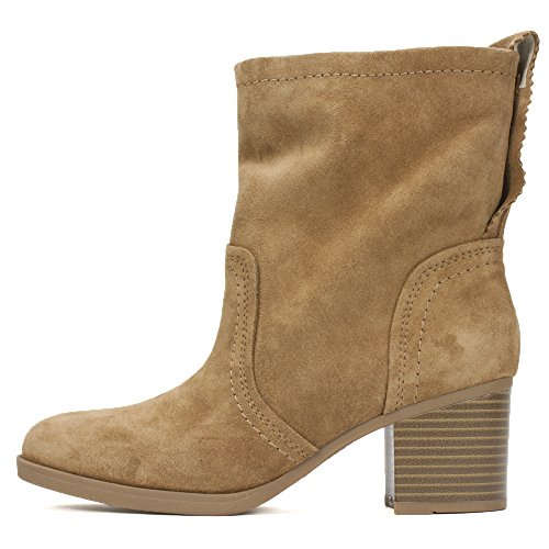 Bootie Ankle Suede WHITE Behari MOUNTAIN Women's Chestnut I4wxT7v