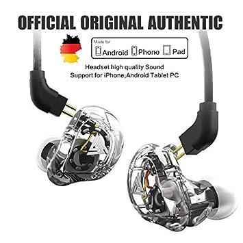 XIAOXIN Audífonos con Cable con micrófono, Auriculares HiFi, subwoofer coaxial de Cuatro Unidades, Sonido Supremo insonorizado, Graves potentes y Agudos ...