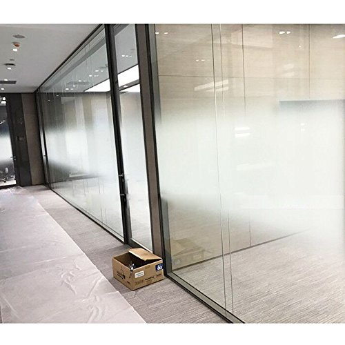 HOHO 60''66ft Roll White Dot Two-way Gradient Window Film Gradual Frosted Window Film Self Adhesive Decorative Semi-privacy Privacy Glass Sticker by HOHO