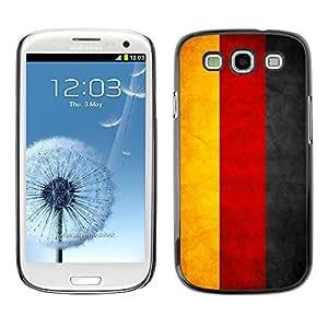 YOYO Slim PC / Aluminium Case Cover Armor Shell Portection //Germany Grunge Flag //Samsung Galaxy S3