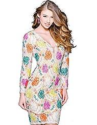 Jovani 39811 Off White/Multi Lace Short Cocktail Dress