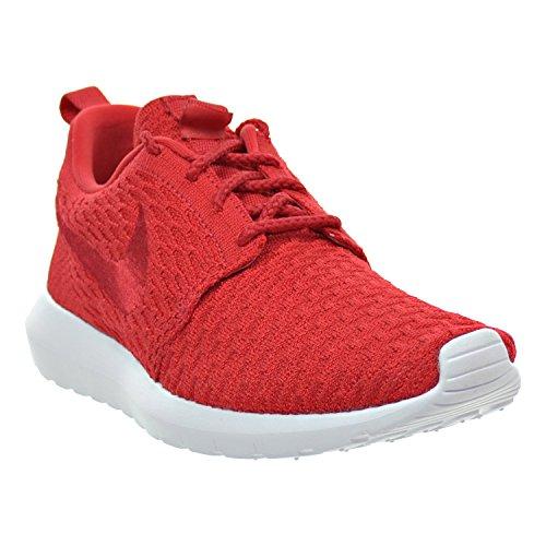 Nike Roshe Nm Flyknit Uomo Scarpe Università Rosso / Bianco 677243-603