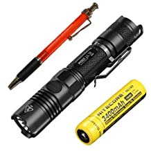 Bundle: Nitecore P12GT Flashlight CREE XP-L HI V3 LED -1000Lm w/ NL189