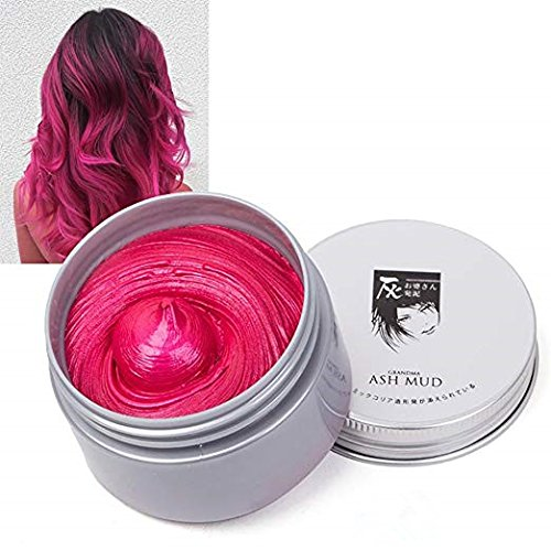 Temporary Hair Wax Hair Color Wax Instant Hairstyle Mud Cream 4.23OZ Natural Hair Coloring Wax Material Disposable Hair Styling for Cosplay, Party, Masquerade, -
