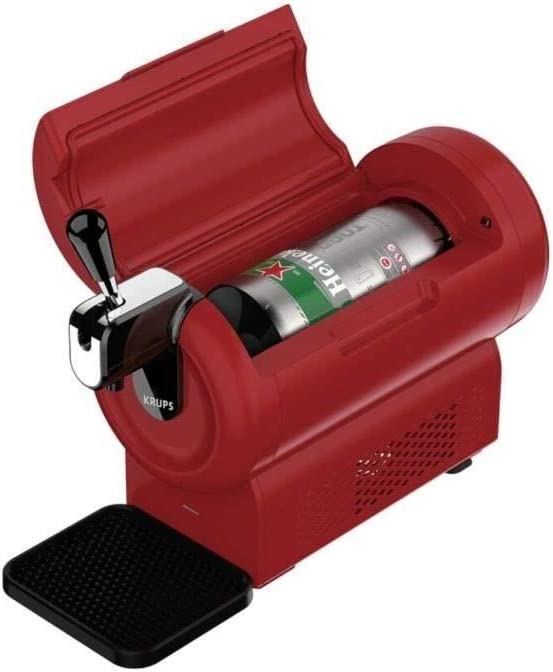The Sub Compact Beer Machine Red Krups YY4233FD Beer Pump 2 L