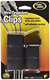 Cord Away Master Wire Clips, 6-Pack, Black