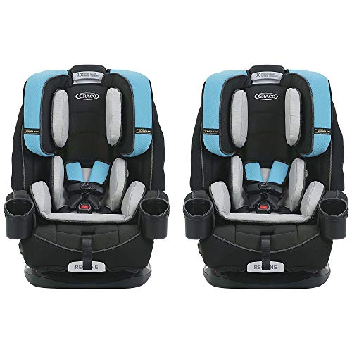 Reclining Car Seat Booster (Graco 4Ever Safety Surround Side Impact 4 in 1 Convertible Child Car Seat, Bryce (2 Pack))