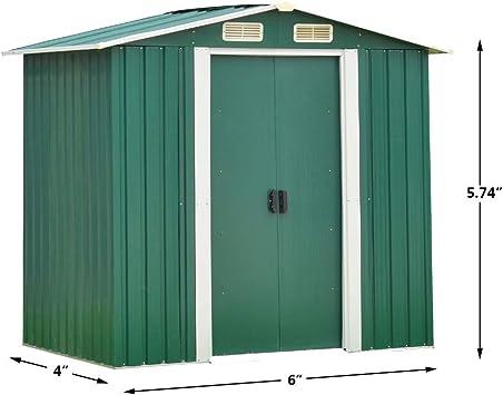 Garden Storage - Puerta corredera para jardín de 4 x 6 pies: Amazon.es: Bricolaje y herramientas