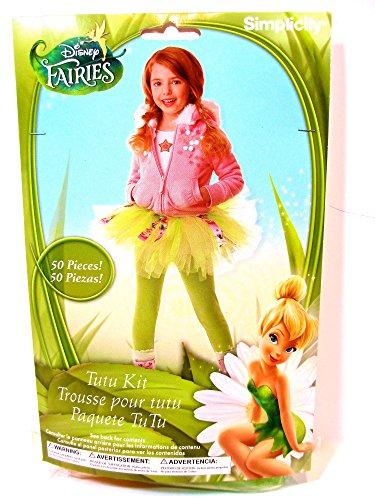 Disney Tinkerbell Tutu Kit No Sew Craft Project Costume ()