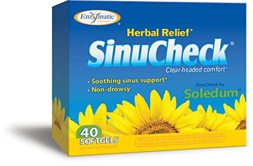 Enzymatic Therapy Sinucheck 40 Soft Gels Box For Sale
