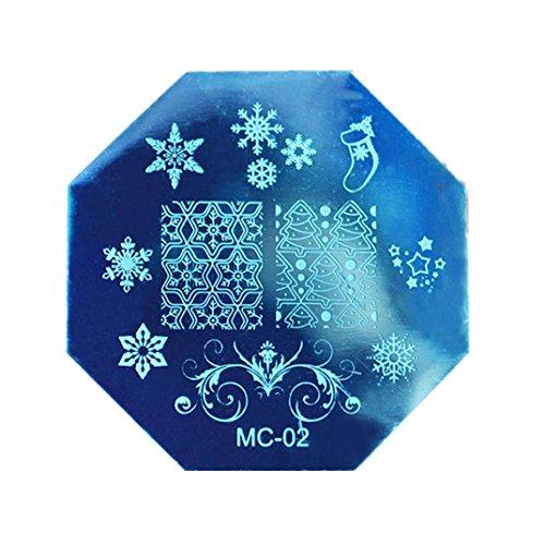 Leoy88 Christmas DIY Nail Art Plate Stamp Plates Template (Skull Makeup Kit)