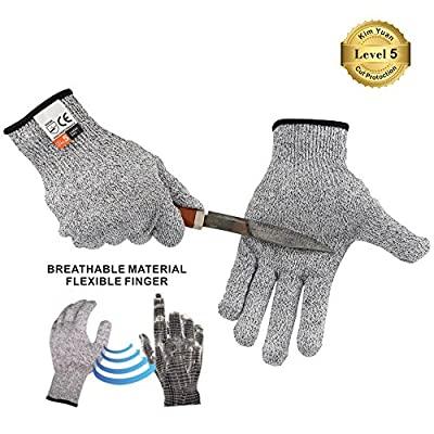 KIM YUAN Cut Resistant Gloves Mechanic General Utility Breathable Work Gloves Touch Screen? Skid/Abrasion Resistant, Pefect for Warehouse, Construction, Outdoor, Men & Women