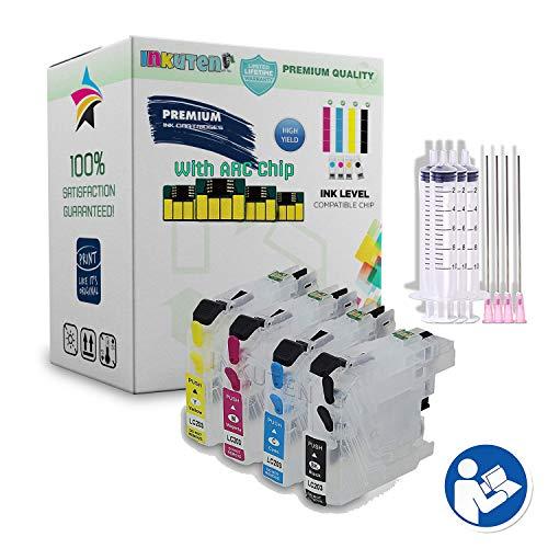 INKUTEN 4 Refillable Cartridges for LC3029 Work on Brother MFC-J6535DW, MFC-J6535DW XL, MFC-J5830DW, MFC-J5830DW XL, MFC-J5930DW, MFC-J6935DW Printer (Brother Printer Sublimation)