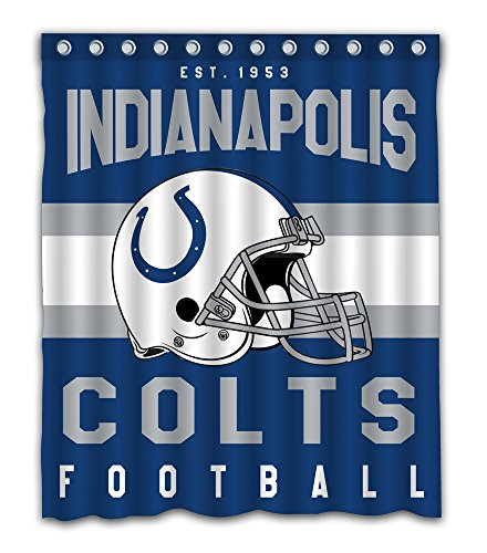 Indianapolis Colts Shower Curtain - Sonaby Custom Indianapolis Colts Waterproof Fabric Shower Curtain For Bathroom Decoration (60x72 Inches)