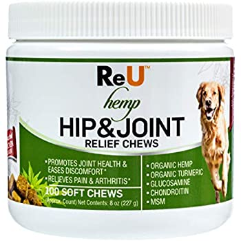 Amazon Com Reu Hemp Hip And Joint Relief Treats For Dogs