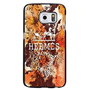 Samsung Galaxy S6 Edge Plus Phone Case Hermess Flower Pattern Logo Orange Cover Shell