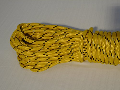 Blue Ox Rope 5/16'' by 100' Gold Double Braided Polyester Halyard Line by Blue Ox Rope (Image #1)