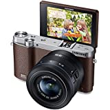 Samsung NX3000 Wireless Smart 20.3MP Mirrorless Digital Camera with 20-50mm Compact Zoom and Flash (Brown)