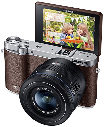 Samsung NX3000 Interchangeable Lens Camera and 2050mm Power Zoom Lens and Flash EV-NX3000BEJUS Brown