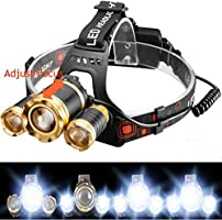 8000lm LED  T6 Zoomable Phare Randonnée Torch HeadLight 18650 Br