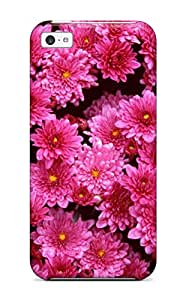 Leslie Hardy Farr's Shop Hot 8441885K40196026 Hot Magenta Mums Tpu Case Cover Compatible With Iphone 5c