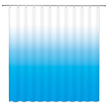 Image Unavailable Not Available For Color Feierman Blue Ombre Shower Curtains Bathroom Sky