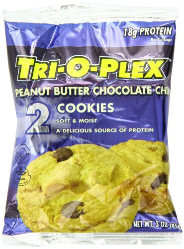 Chef Jays Tri-O-Plex Cookies, Peanut Butter Chocolate Chip,  2 per Package, 12 Packs per Box