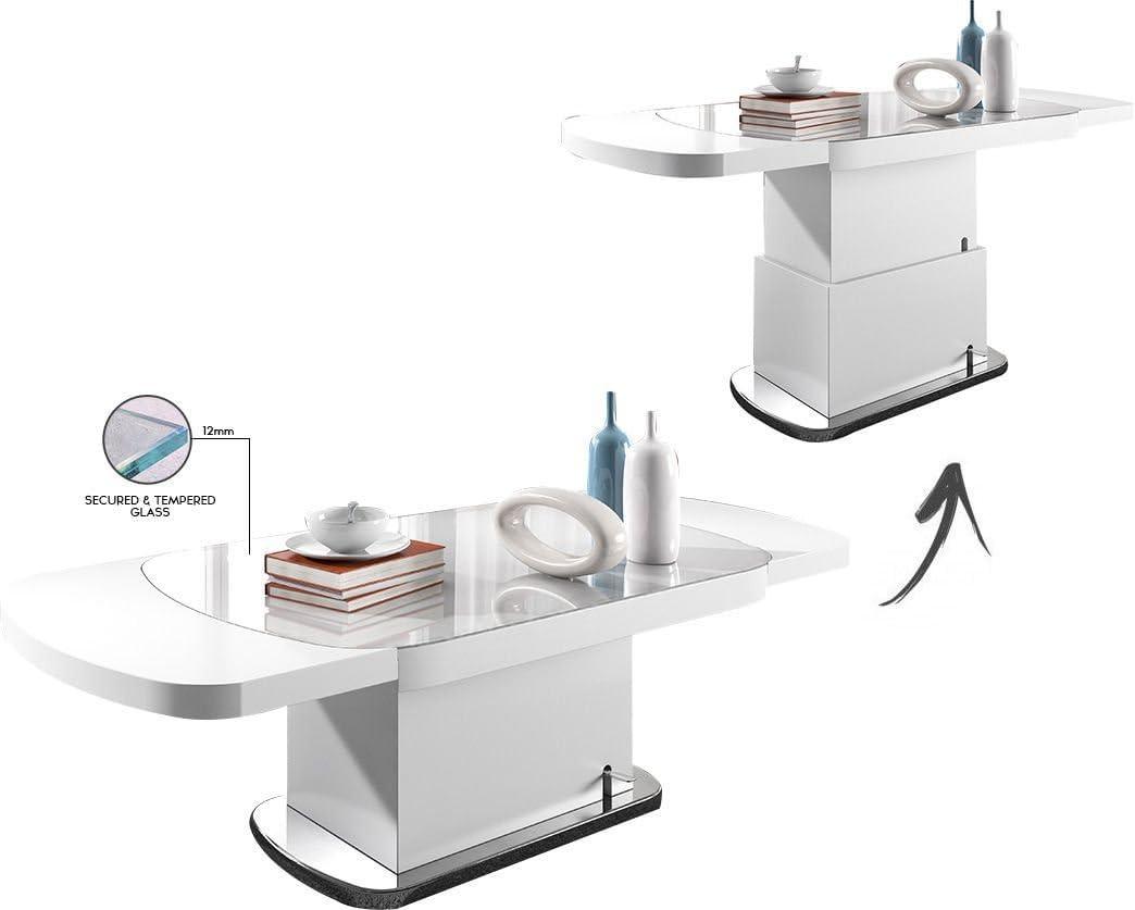 Comforium Mesa Oval Design 120 – 180 cm Extensible y elevable ...