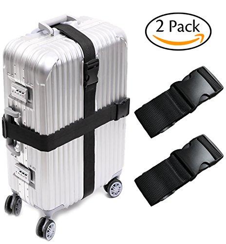 Darller 2/4 PCS Luggage Straps Suitcase Belts Travel Accessories Bag Straps