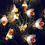 Solar String Environment-Friendly Honey Bee Shape Waterproof Decoration Lamp Garden Party Decoration Light (A)