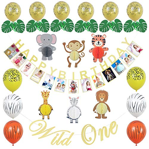Jungle Theme Party Supplies - Safari Party Supplies - Jungle Decorations - Wild One Birthday Decorations - Safari Baby Shower Decorations for $<!--$22.99-->