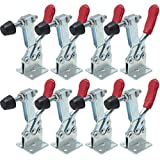 8pcs Hand Tool Toggle Clamp 201B Antislip Red Horizontal Clamp 201-B Quick Release Tool