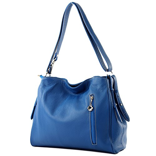 Bolsa hombro hombro Bolsa T119 de Cuero de de de Bolsa Bolsa Blau hombro cuero WvU1HcX