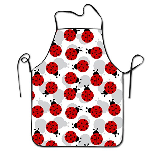 Ladybug Pattern Personalized Aprons Chef Apron For Women Men Girl Kids Gifts Kitchen -