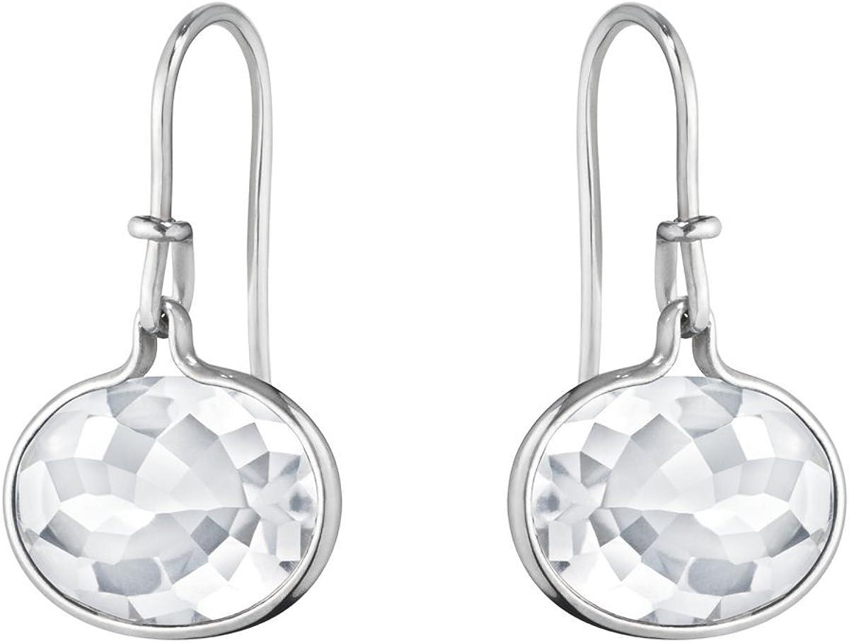 Georg Jensen Savannah Pendientes de plata de ley y cristal de roca