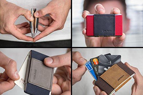 D'identità Marino A grigio Sicuro Marino Pocketo E Tessere Comodo Per In Banconote Patente Crazy Portafoglio blu Porta Tutti Carta Adatto Grigio Pelle Minimalista blu Horse wS61nTzqR