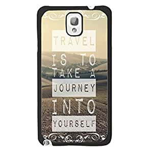 2014 New Hipster Quotes Design Pattern Cover Case for Samsung Galaxy Note 3 N9005 Personalized Protective Skin Shell for Girls (travel nature)
