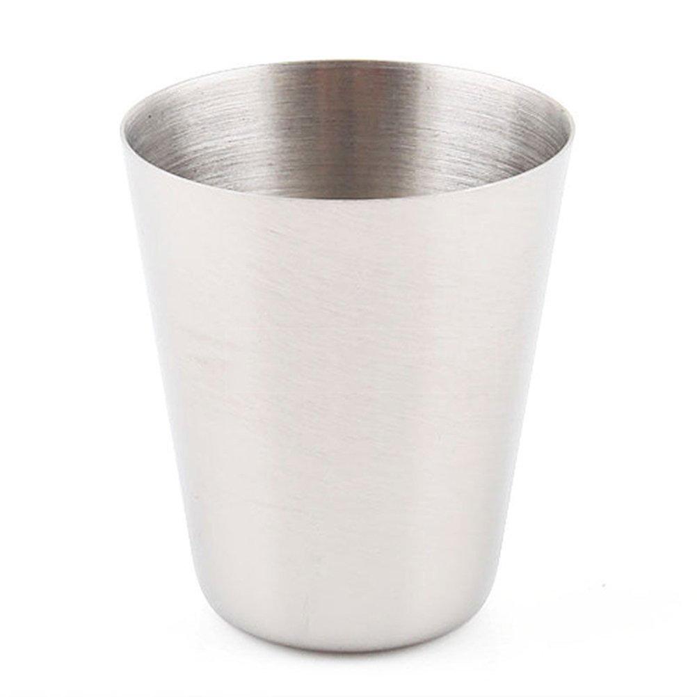 SODIAL(R)1 oz 35ml Stainless Steel Wine Drinking Shot Glasses Barware Cup LEPAZIK1972