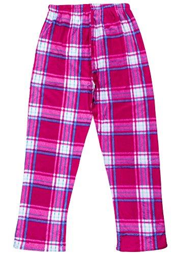 9615a6830c North 15 Girls Super Cozy Plaid Minky Fleece Pajama Bottom Lounge Pants -L1527G-Design3