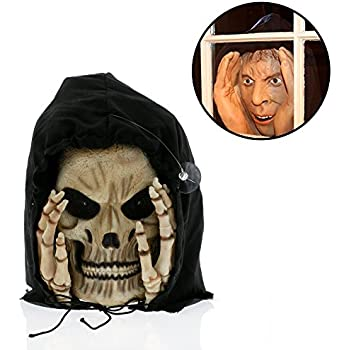 halloween decoration scary peeper reaper peeper the true to life light up window prop that will scare your socks off