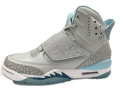 JORDAN SON OF GG girls fashion-sneakers 512242-016_5Y - PURE PLATINUM/GREEN ABYSS-STILL BLUE by Jordan