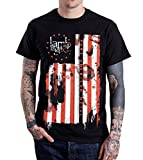 Lamb Of God Pure American Metal Flag T-Shirt Black (XX-Large)